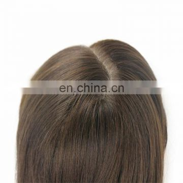 Top quality Jewish kosher wigs breathable simulation of the scalp remy virgin european hair silky straight