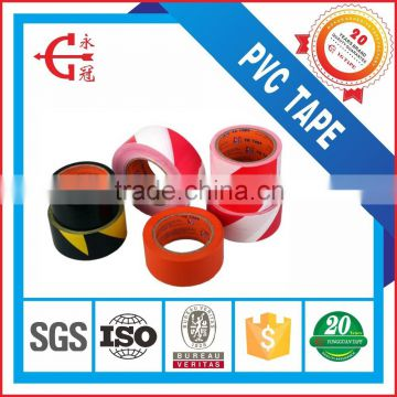 LDPE red and white plastic safety warning tape