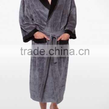 Wholesale Men's Premium Bamboo Velvet Bathrobe