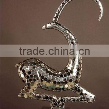 Casting Abstract Stainless Steel Deer Sculpture For Garden Decoraton