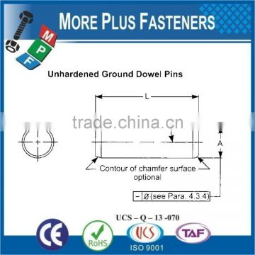 Made In Taiwan Hard Taper Dowel and Groove Clevis and Cotter Pin