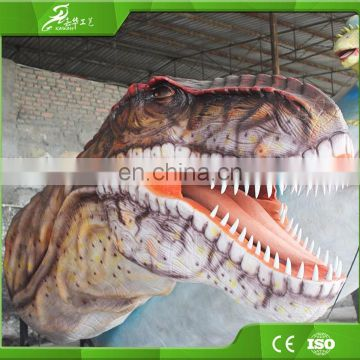 KAWAH Artificial Dinosaur Entrance Outdoor Park Animatronic Dinosaur Head For Sale