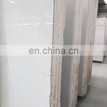 Polished glacier white marble slab from Eastwood Stone