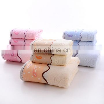 Wholesale custom 100% cotton bath jacquard towel