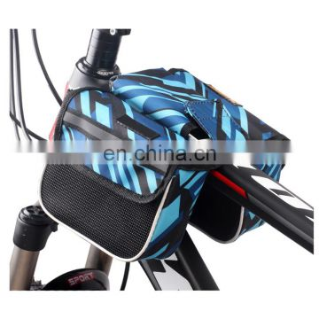 new blue waterproof pannier bike frame pannier bag