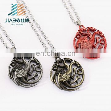 Game of Thrones Necklace Song of Ice and Fire Stark Targaryen Pendant Necklace Friendship Men Women