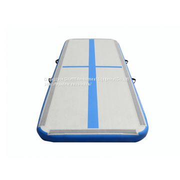 High quality 10cm,15cm,20cm DWF and PVC material inflatable air tumble track gymnastics indoor inflatable yoga mat onsale