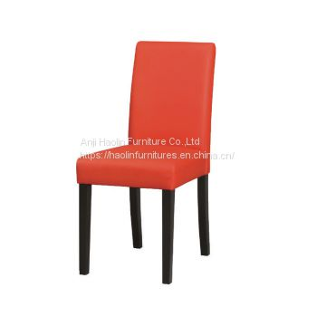 Sensational Red Faux Leather Solid Wood Dining Chair With Cheapest Price Beatyapartments Chair Design Images Beatyapartmentscom