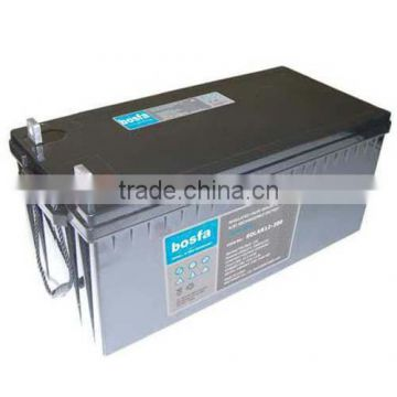 deep cycle solar battery 12v 200ah rechargeable battery