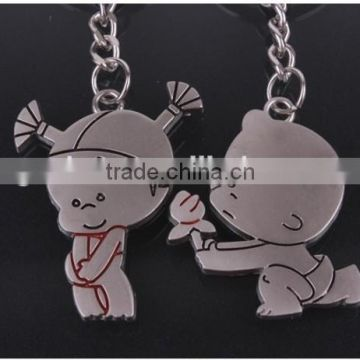 METAL PAIR BOY AND GIRL LOVER KEYCHAIN