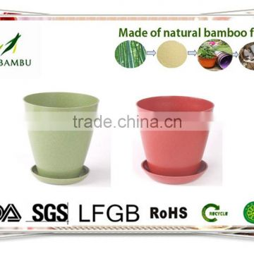OEM available No pollution Antique bamboo fiber flower pots