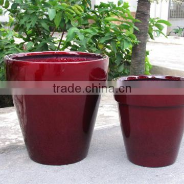 Fiberstone pots, polystone planter, fiberglass, glossy fiberstone with lightweight and durable for flower and garden pots