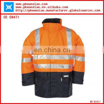 waterproof reflective safety jackets conform to EN471 class 3( WX-J1012)