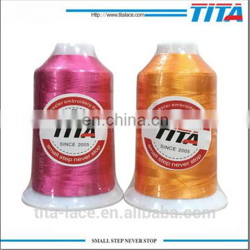 2017 new polyester machine embroidery thread with vivid color 120D/2