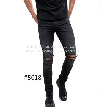 High Quality Skinny Fit Washed Trousers Custom denim jeans pants new style jeans pent men ripped damaged jeans for men