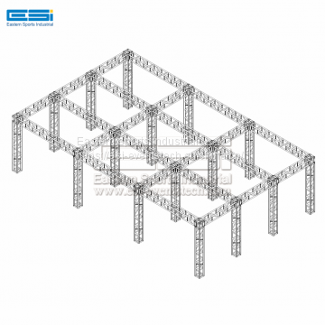 Outdoor lighting event stage aluminum DJ box truss for sale