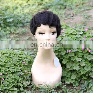 aliexpress fashion short 100% raw unprocessed virgin malaysian human hair lace wig