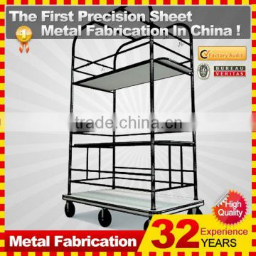 kindle 2014 new durable folding professional customized shopping cart with removable wheels for sale