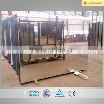 Horizontal Magnetron Sputtering Float Glass Aluminum Mirror Sheet 2mm To 6mm Thick Max Size
