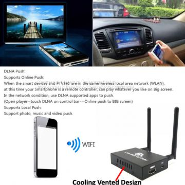 5G Car wifi display for universal car video interface support ios10 Airplay