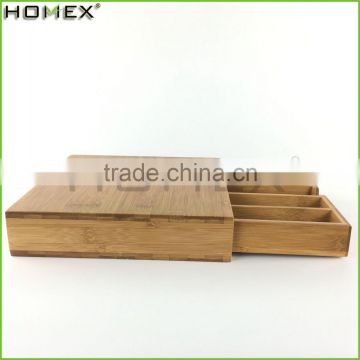 Eco-friendly Bamboo Coffee Cup Drawer/Coffee Pod Box Organizer/Homex_FSC/BSCI Factory