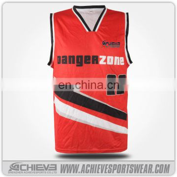 Custom made basket ball jersey, cheap reversible basketball uniforms