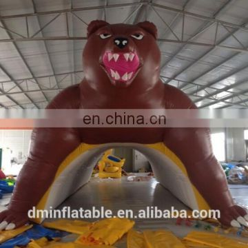 inflatable Giant Brown Bear Sports Tunnel