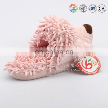 Cute Plush fuzzy Animal Slippers cheap Lady slippers, soft plush slippers