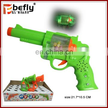 With light and sound plastic revolver gun with candy