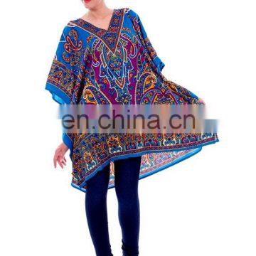 Goood Times Caftan Tunic polyester maxi poncho Women's Kaftan caftan Night wear Hippie Dress Kimono Satiny Silky Look Plus Size