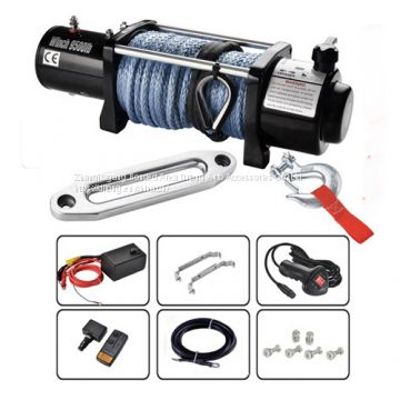 4x4 9500lbs wireless control Jeep Electric Winches 12V