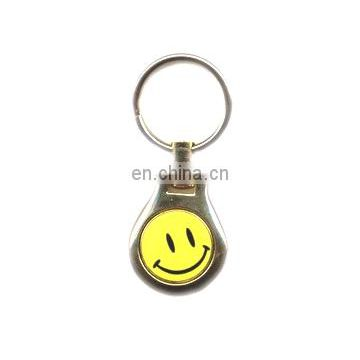 Factory direct wholesale Smile Funky Logo Metal Key Chain key ring