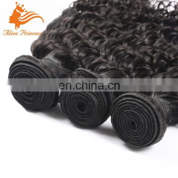 Wholesale Black Malaysian Marley Hair Products Deep Curly Human Hair Weaving Extensions For Black Women