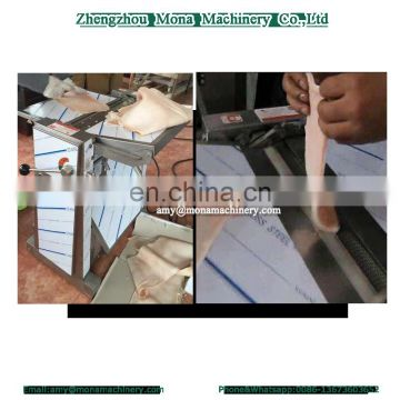 Electric automatic pork skin removing / meat skin separating machine / pork peeling machine