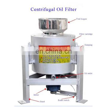 Top quality peanut cotton centrifugal oil filter cookingoilfiltration machine