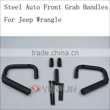 Black front grab handle for SUV ATV Solid interior grab bars for jeep wrangler