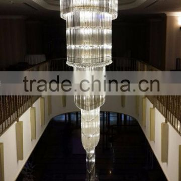 Custom shape and size cheap long ceiling crystal chandelier                                                                                                         Supplier's Choice