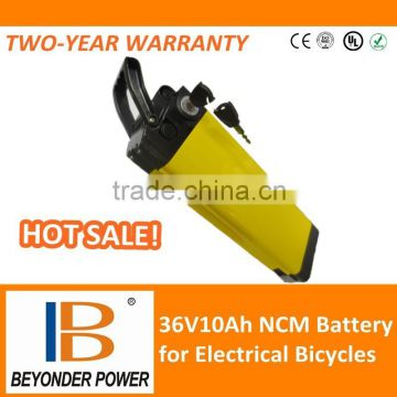 Hangzhou factory,36Volt10Ah-20Ah electric bicycle battery, assembly via rechargeable lithium ion 18650 battery