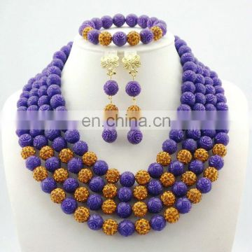 2016 beads jewelry/ african jewelry set for ladies