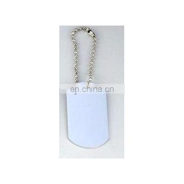 custom couple men's stainless steel dog tag on chain for wholesale