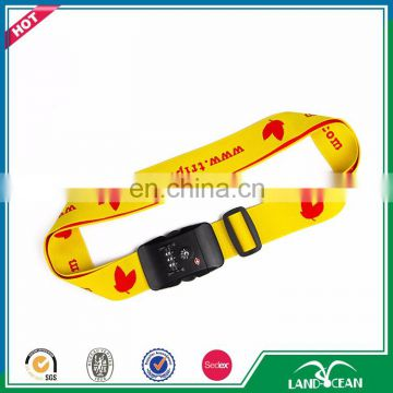 Wholesale combination tsa customised luggage strap for sale