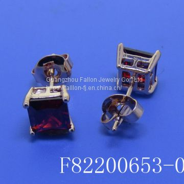 The Rose Gold Plated Fashion Earings inlay a AAA Zircon