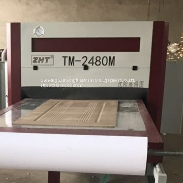 double worktables Vacuum Laminating Machine with CE and ISO 9001 certifications for paint-free doors