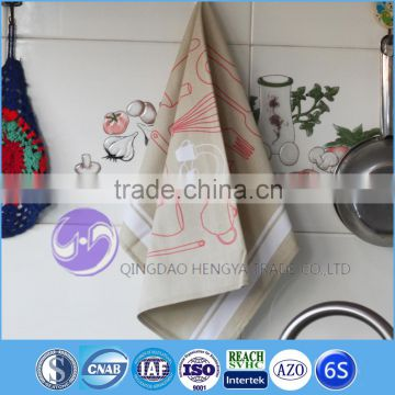 home textile100% cotton custom printed tea towel kitchen