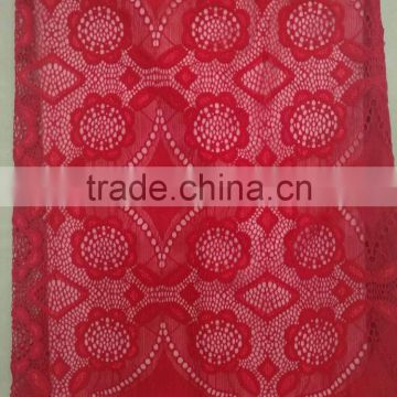 mesh tulle type african elastic lace fabric Nylon Spandex lace fabric flower