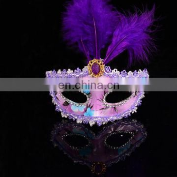 Classic Handmade New Fashion Feather Girl Halloween Mask