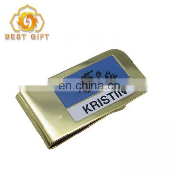 Custom Stianless Steel Metal Mens Money Clip For Gifts