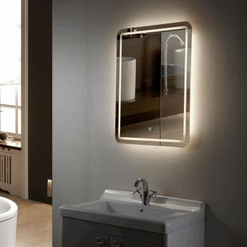 Frameless LED Lighted Hotel Luxury Bathroom Vanity Mirror with Light