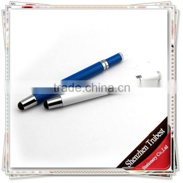 TTO-05 high quality screen touch pen 2 in 1 ballpen , promotional metal stylus ball pen for ipad