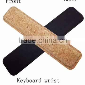 Boshiho new Arrival Item Soft Cork Keyboard Wrist Rest Pad computer peripheral